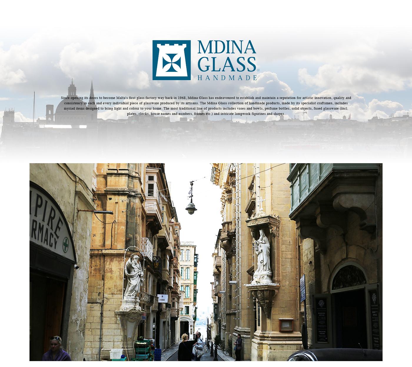 〜『静寂の町』〜4000年以上前の起源に遡り、かつては首都だった素晴らしい古代城壁に囲まれた城塞都市。<br>時間を超越した雰囲気と文化的で宗教的雰囲気が魅力です。そして、このイムディーナで作られ愛されている象徴がMdina Glassです。